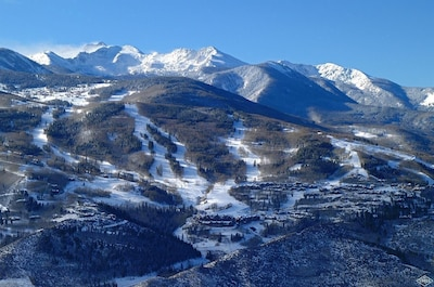 Aerial photo of Bachelor Gulch