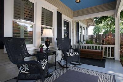 Front porch of Merlot.