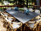 Beautiful outdoor dining with seating for 10