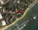 Satellite view showing suite 222 location and direction of ocean view