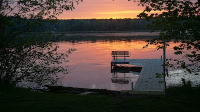 Lake Chetac from your dock at sunset
