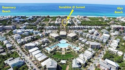 Short, easy walk to the beach,! pool, Rosemary and Alys Beach