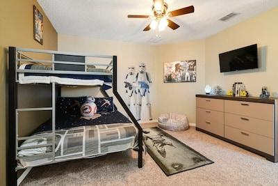 The Star Wars bedroom!