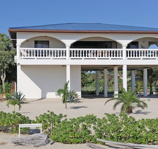 GOLD STANDARD CERTIFIED - The White House in Placencia - seen from the beach