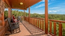 Upper level deck with gas grill