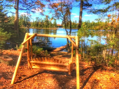 Come relax on your private swing...