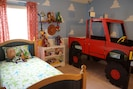 Toy Story, sleeps 3, truck bed doors open and close, dress ups in closet