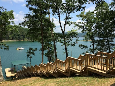 Stairs to your private dock.