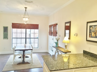 View from kitchen into dining area