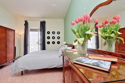 Zentrale Wohnung in Rom 2 Schlafzimmer 2 Bäder, bis zu 5 Personen