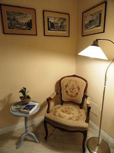 reading & relax corner in the double bedroom