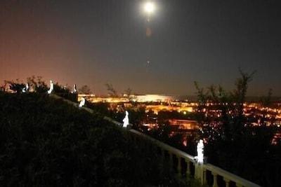 feux d'artifice à CANNES photo prise de la terrasse