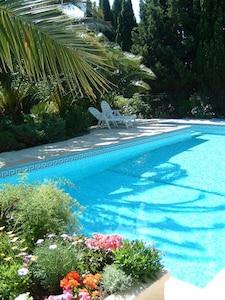 piscine 10x5m sécurisée
