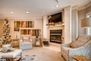 Living Room - Curl up to a Wood-burning Fire, Relax with a Glass of Wine & Enjoy!