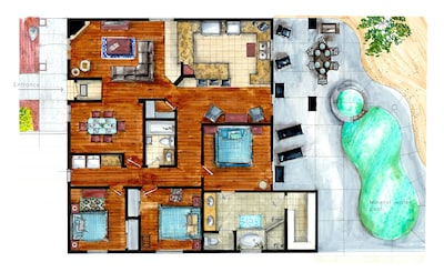 Home Layout - Lots of space for you and up to 8 guests!!!