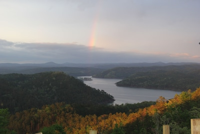 Rainbow view from Deck