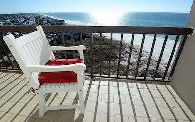 Your ocean and coastal view from the gulf-front balcony.