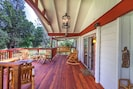 Come sit and relax on the front porch or enjoy the log swing.