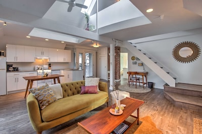 Bright and airy with vaulted ceilings and skylights!