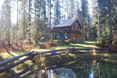 pond and carriage house