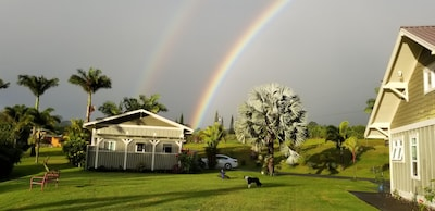 Beautiful double rainbow.