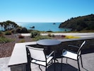 Patio overlooking Trinidad Harbor! Enjoy lunch overlooking Trinidad Harbor Views