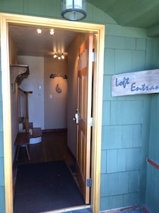 Loft Entrance from Front of Restaurant.