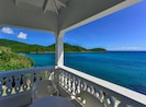 Porch of the master bedroom. Sleep inside or outside to the sounds of the Bay