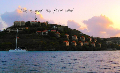 You can see exactly where your villa is located...great breezes & what a view!
