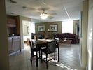 Living and dining room.