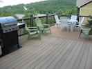 Huge deck with nice lake view