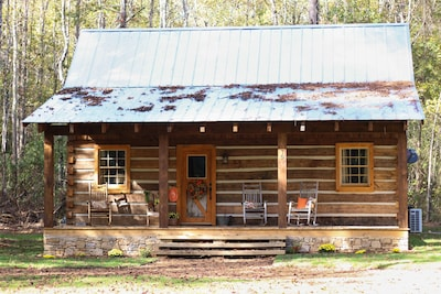 The Oakley House was built in 2015 from hand-hewn logs dating back to the 1800's