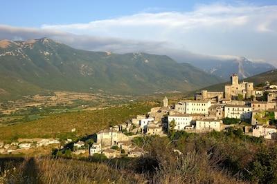 The beautiful village of Capestrano.