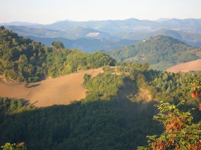 view over the hills