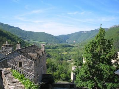 Gorges du Tarn, Saint-Pierre-des-Tripiers, Lozere, Frankrike