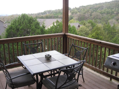 View from the back porch - the beautiful Missouri Ozarks