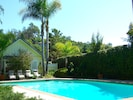 Come enjoy the 15' x 40' pool and spa! [Guest House, in rear, rents separately]