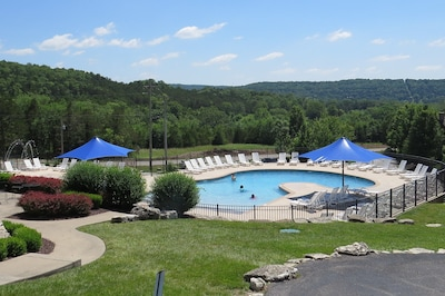 Zero entry pool and splash pad just 100 steps from your front door.