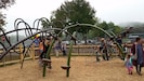 New playground two  blocks from my place