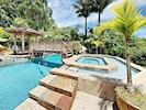 Enjoy sunbathing or yoga by the poolside pavillon
