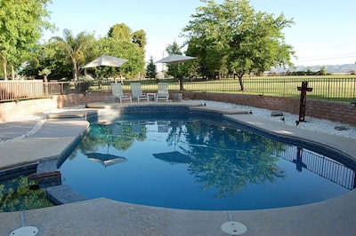 Watch the world go by while relaxing at your own private pool.