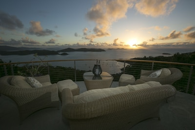 Sunrise is ever changing from your deck.  Great for coffee sipping!