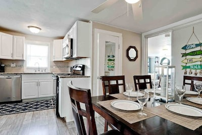 Well equipped kitchen makes dining in a breeze