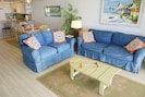 Tropical furniture with many custom touches throughout.