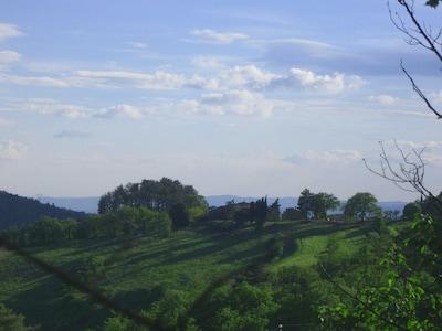 Farmhouse view towards Arno valley