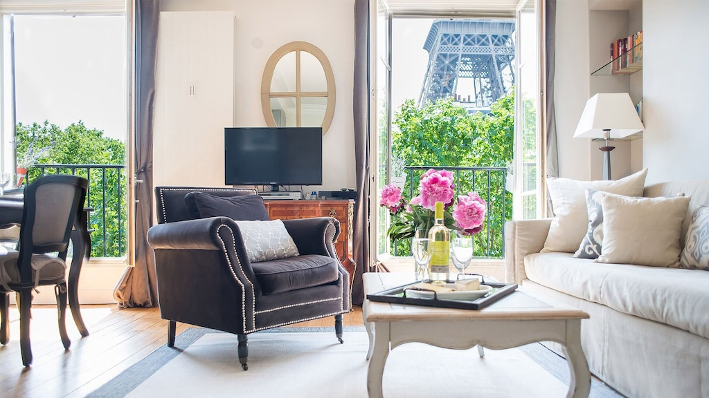 View of the Eiffel Tower from the living room armchair!