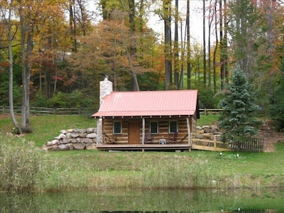 The Back Woods Cabin in the Fall.