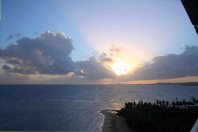 Sunrise on the balcony