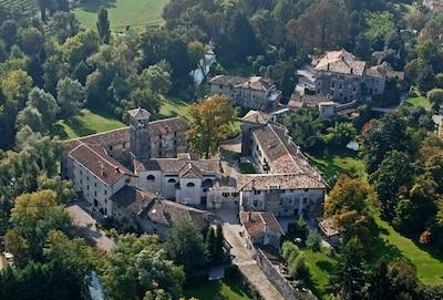 Castle complex. Casa Artuico, Casa Rambaldo and the rice mill are still ruins