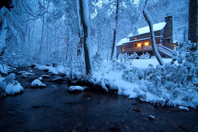 Beautiful winter snow